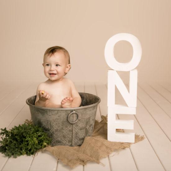 cake smash photo session studio first birthday photo shoot ideas minimalist milk bath Wimbledon photo Studio SW19