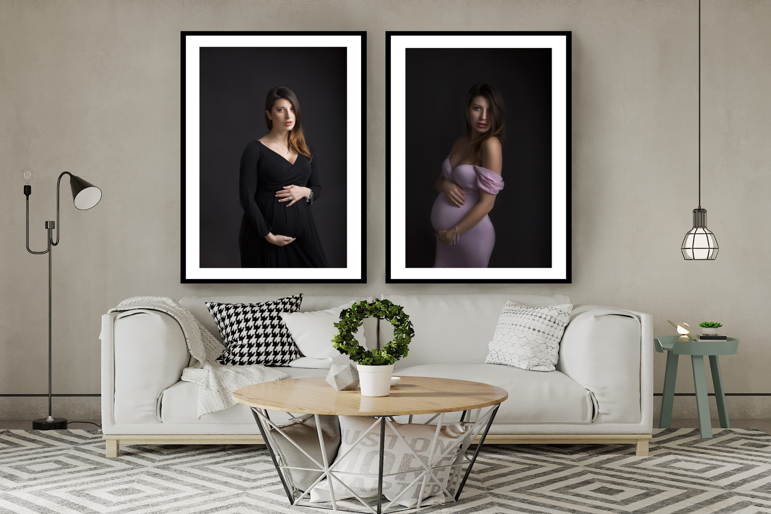 maternity photo session room decor wall art for pregnancy photoshoot